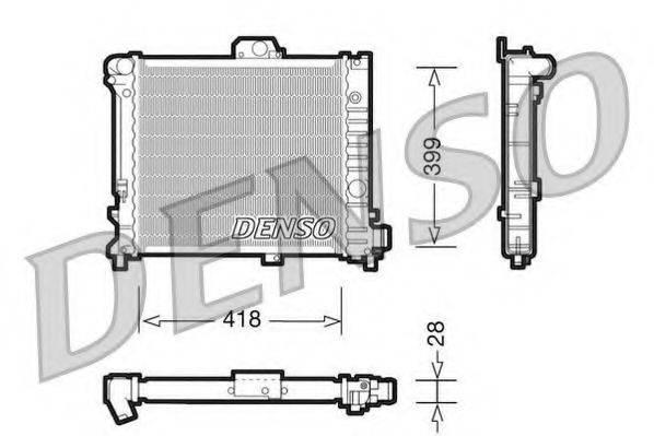 Радиатор, охлаждение двигателя DENSO DRM25004