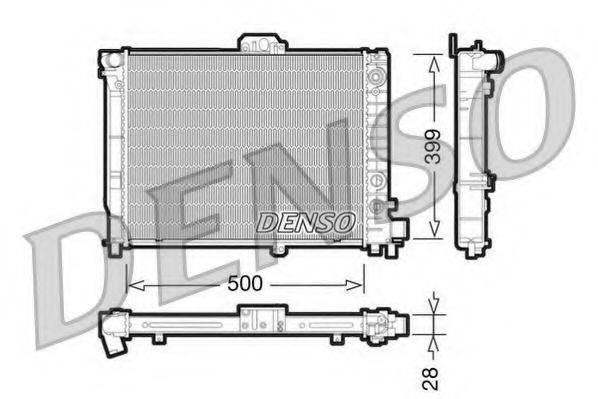 Радиатор, охлаждение двигателя DENSO DRM25008