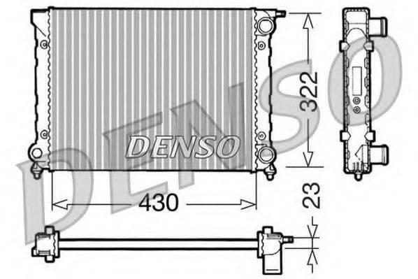 Радиатор, охлаждение двигателя DENSO DRM32004