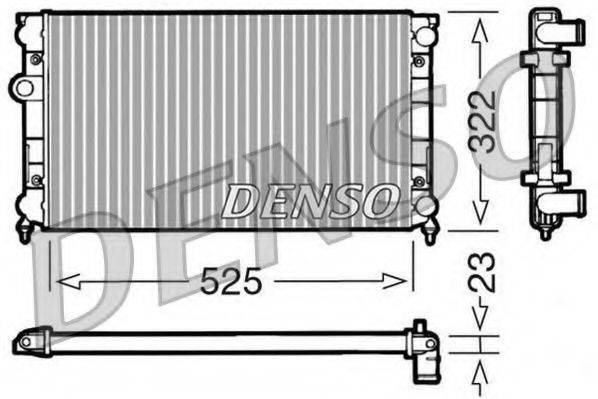 Радиатор, охлаждение двигателя DENSO DRM32006