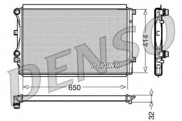 Радиатор, охлаждение двигателя DENSO DRM32015