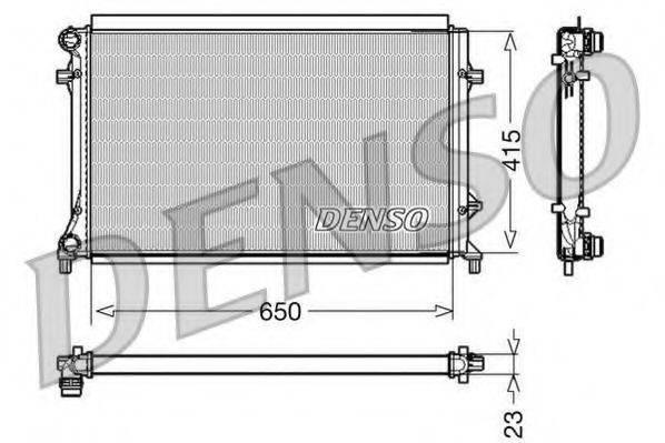 Радиатор, охлаждение двигателя DENSO DRM32018