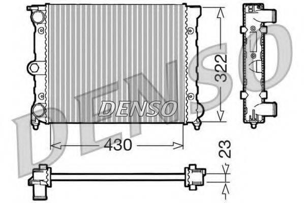 Радиатор, охлаждение двигателя DENSO DRM32022
