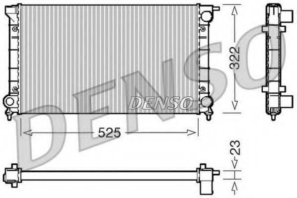 Радиатор, охлаждение двигателя DENSO DRM32024