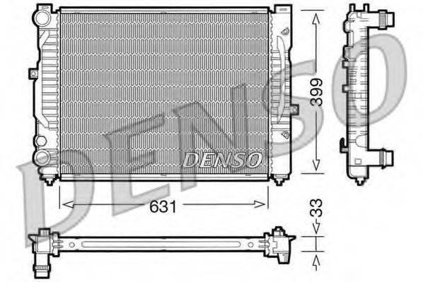 Радиатор, охлаждение двигателя DENSO DRM32029