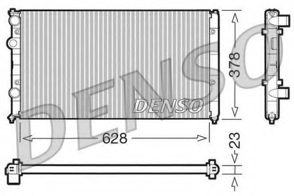 Радиатор, охлаждение двигателя DENSO DRM32035