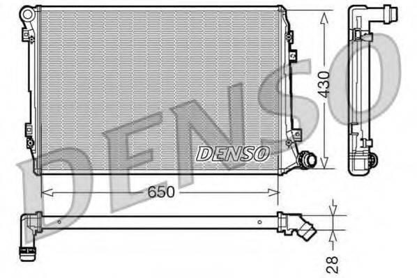 Радиатор, охлаждение двигателя DENSO DRM32037
