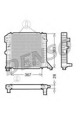 Радиатор, охлаждение двигателя DENSO DRM33020