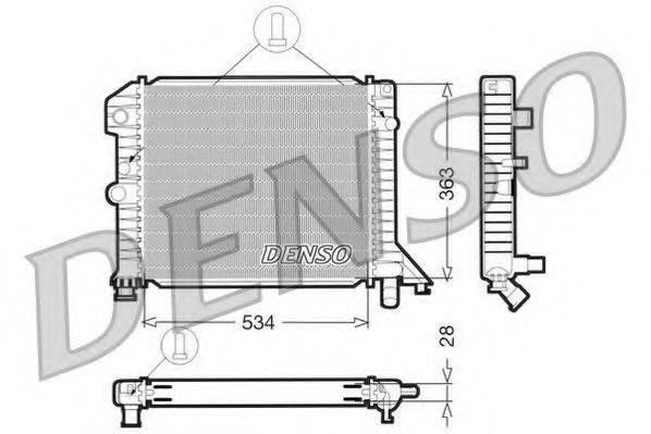 Радиатор, охлаждение двигателя DENSO DRM33021