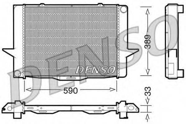Радиатор, охлаждение двигателя DENSO DRM33040