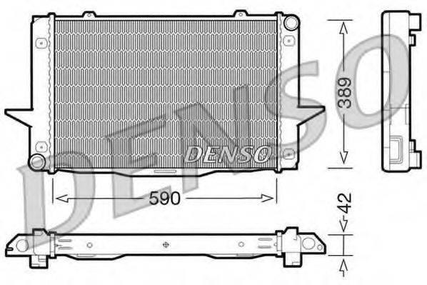 Радиатор, охлаждение двигателя DENSO DRM33043
