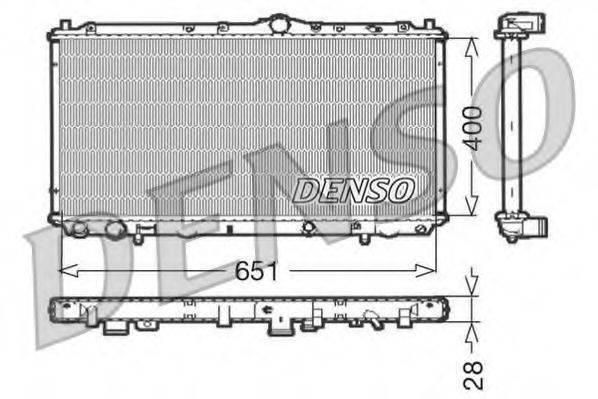 Радиатор, охлаждение двигателя DENSO DRM33060