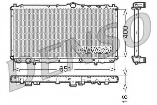 Радиатор, охлаждение двигателя DENSO DRM33061