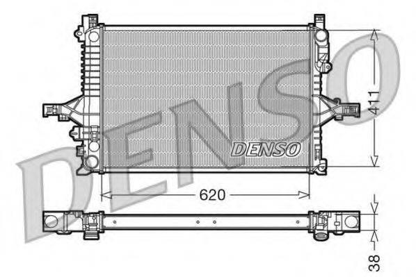 Радиатор, охлаждение двигателя DENSO DRM33065