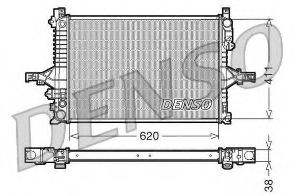 Радиатор, охлаждение двигателя DENSO DRM33066