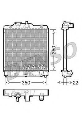 Радиатор, охлаждение двигателя DENSO DRM40003