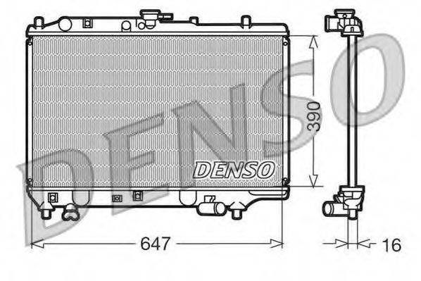 Радиатор, охлаждение двигателя DENSO DRM44006