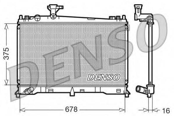 Радиатор, охлаждение двигателя DENSO DRM44010