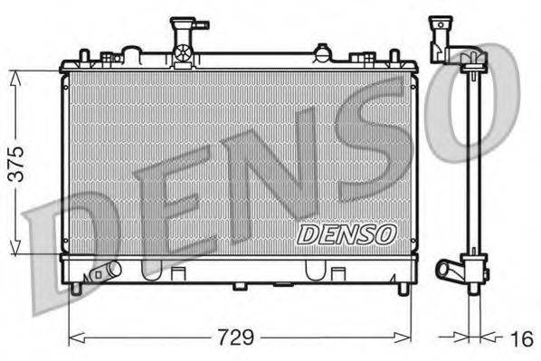 Радиатор, охлаждение двигателя DENSO DRM44011