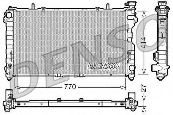 Радиатор, охлаждение двигателя DENSO DRM06011