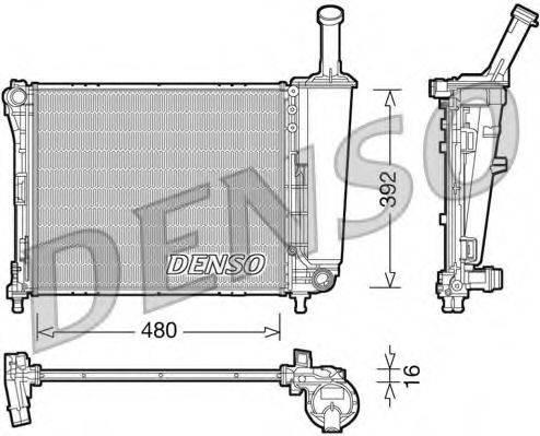 Радиатор, охлаждение двигателя DENSO DRM09088