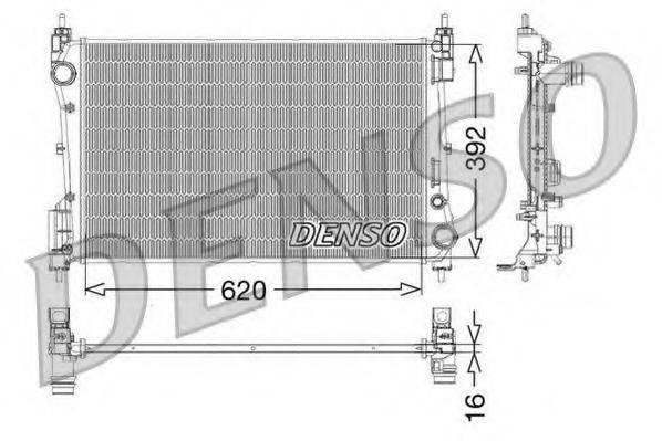 Радиатор, охлаждение двигателя DENSO DRM09114