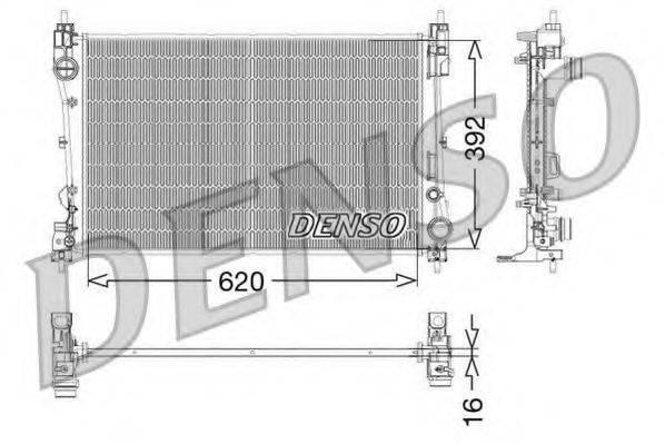 Радиатор, охлаждение двигателя DENSO DRM09115