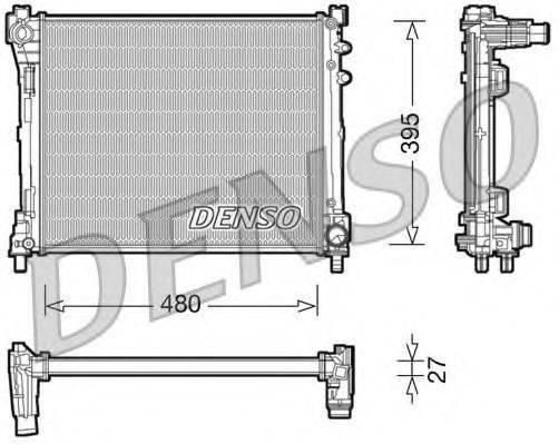 Радиатор, охлаждение двигателя DENSO DRM13014