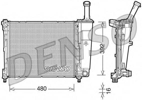 Радиатор, охлаждение двигателя DENSO DRM13016