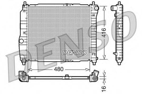 Радиатор, охлаждение двигателя DENSO DRM15003
