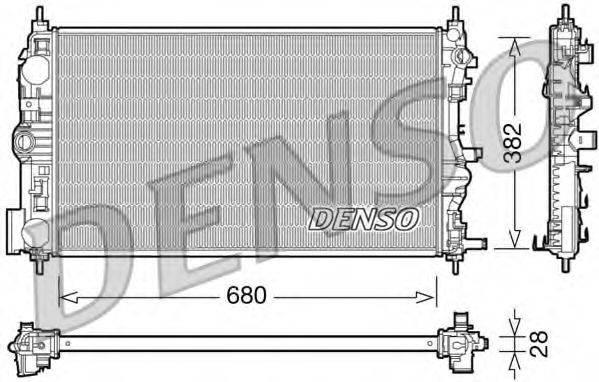 Радиатор, охлаждение двигателя DENSO DRM15005