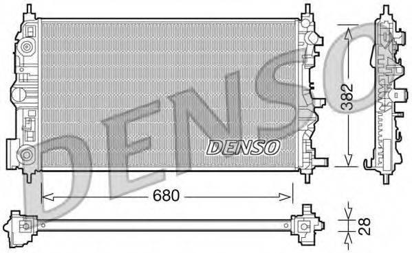 Радиатор, охлаждение двигателя DENSO DRM15006