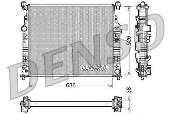 Радиатор, охлаждение двигателя DENSO DRM17006