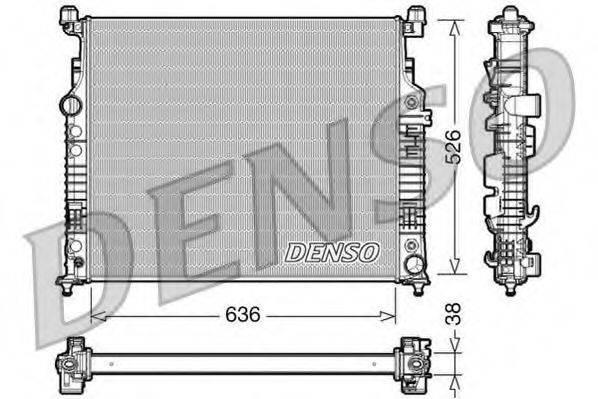 Радиатор, охлаждение двигателя DENSO DRM17007