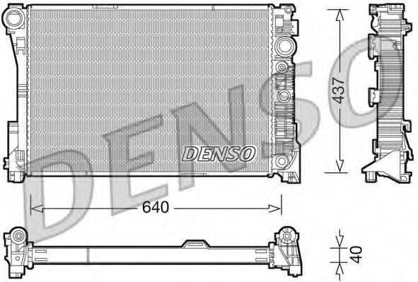Радиатор, охлаждение двигателя DENSO DRM17046