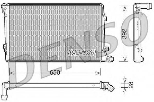 Радиатор, охлаждение двигателя DENSO DRM32019