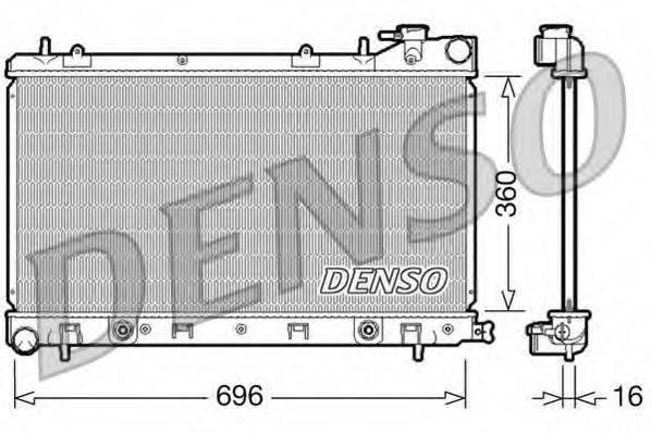 Радиатор, охлаждение двигателя DENSO DRM36002