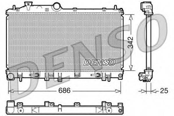 Радиатор, охлаждение двигателя DENSO DRM36005