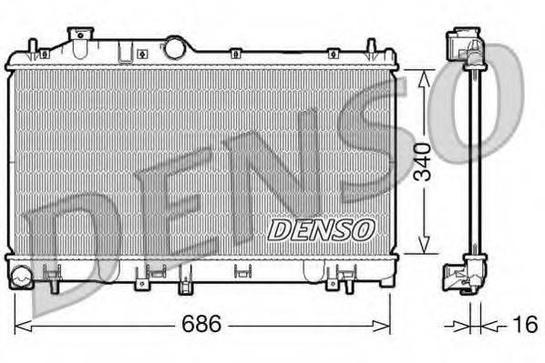 Радиатор, охлаждение двигателя DENSO DRM36007
