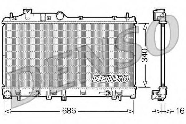 Радиатор, охлаждение двигателя DENSO DRM36008