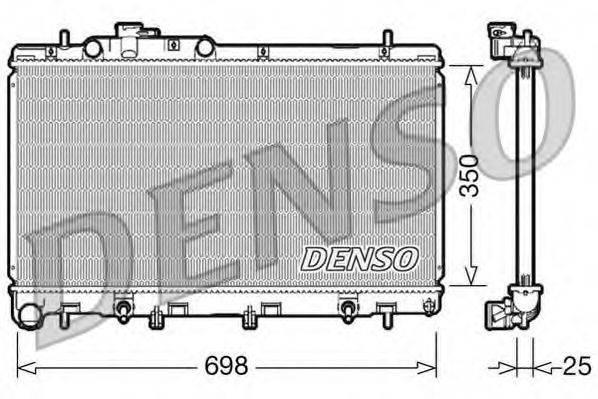 Радиатор, охлаждение двигателя DENSO DRM36011