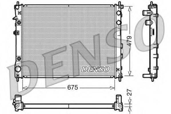 Радиатор, охлаждение двигателя DENSO DRM36012