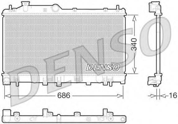 Радиатор, охлаждение двигателя DENSO DRM36013