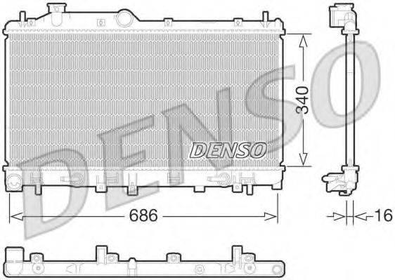 Радиатор, охлаждение двигателя DENSO DRM36015