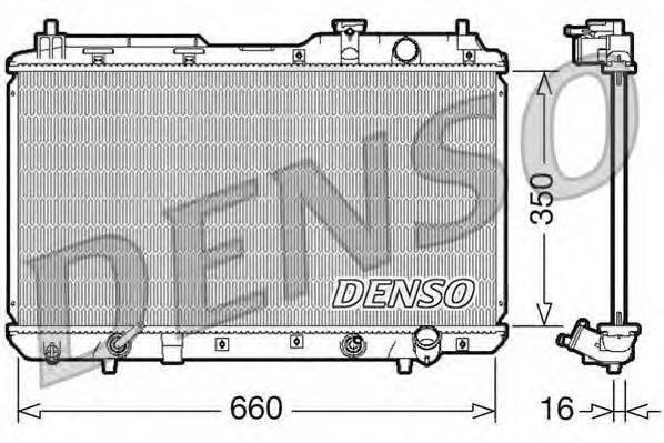 Радиатор, охлаждение двигателя DENSO DRM40010