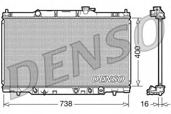 Радиатор, охлаждение двигателя DENSO DRM40012
