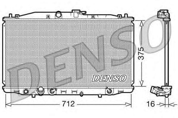Радиатор, охлаждение двигателя DENSO DRM40022