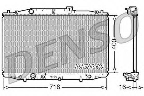 Радиатор, охлаждение двигателя DENSO DRM40024