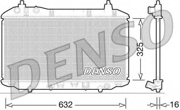 Радиатор, охлаждение двигателя DENSO DRM40031