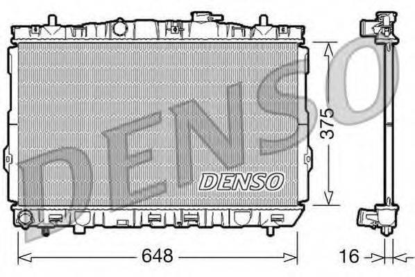 Радиатор, охлаждение двигателя DENSO DRM41001